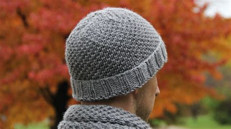 loom knit mens hat how to knit s hat tutorial with detailed