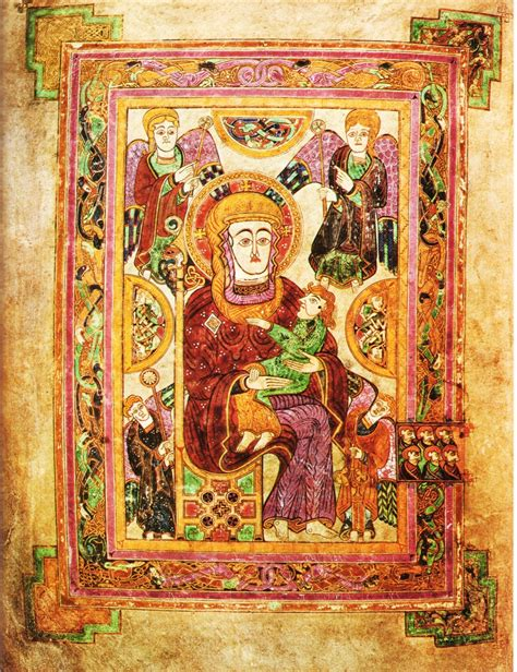 libro medieval europe the virgin and child the book of kells folio 7v ex