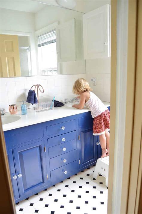 Blue Bathroom Vanity - navy blue vanity makeover at s house