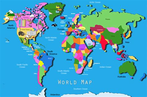 its s a jungle in here world map