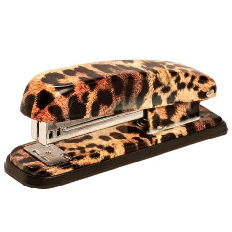 Animal Print Desk Accessories Cheetah Animal Print Stapler Office Supplies Office Instruments Removers