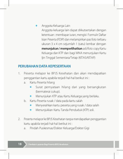 format daftar isian peserta bpjs seri bpjs kesehatan buku panduan layanan bagi peserta bpjs