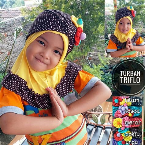 Jilbab Anak Turban jilbab anak turban triflow sentral grosir jilbab