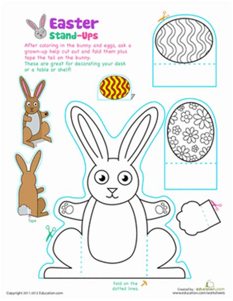 Easter Paper Crafts Free - worksheets free printables education