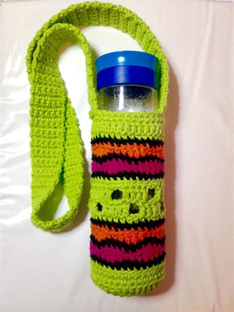 crochet pattern bottle holder making waves water bottle holder allfreecrochet com