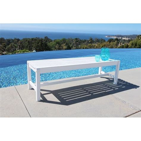 white porch bench backless outdoor bench in white v1614