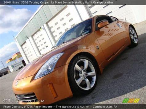burnt orange leather interior 2006 nissan 350z touring coupe photo 41063587 gtcarlot com le mans sunset metallic 2006 nissan 350z touring coupe