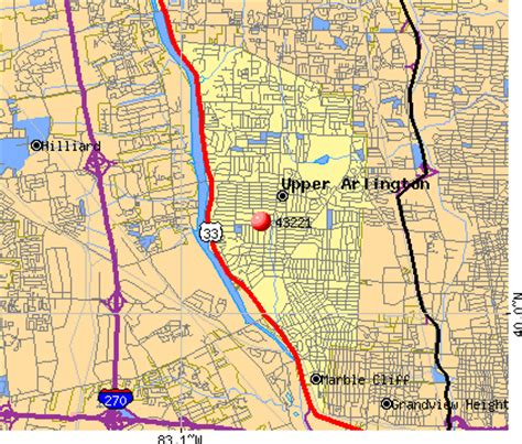 Zip Code Map Upper Arlington Ohio   upper arlington zip code map zip code map
