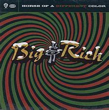 big and rich of a different color of a different color big rich album