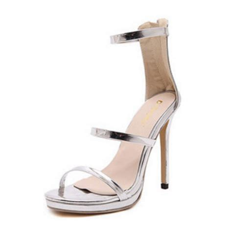 strappy silver sandals silver strappy stiletto heel sandals