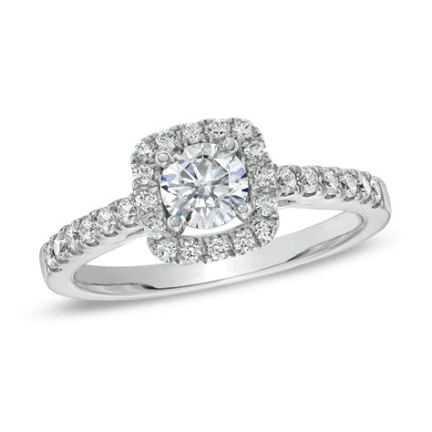 Zales Halo Engagement Rings images