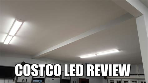 costco 4 led lights costco feit 917972 4 led shop lights review youtube