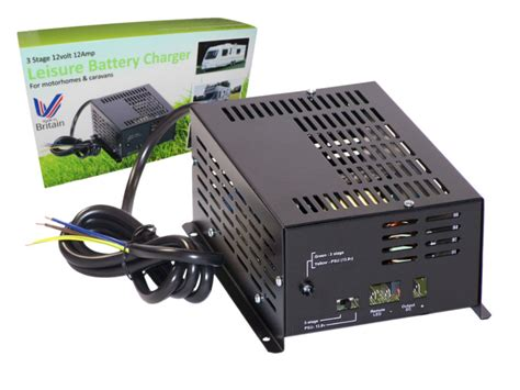 leisure battery charger rovert 3 stage leisure battery charger 12v 12a 12 volt