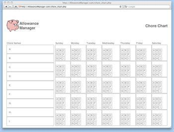 10 best images of printaple allowance chore chart template