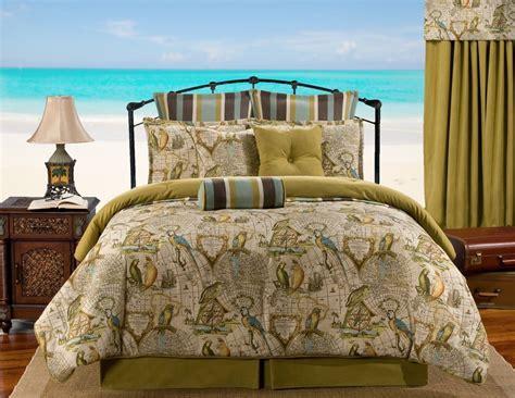nautical comforter set parrotdise beige green teal tropical nautical bedding