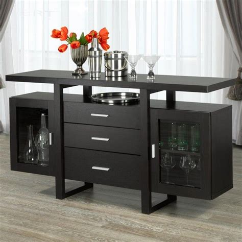 Brassex Monaco Buffet Server Espresso Espresso Kitchen Kitchen Buffet Server