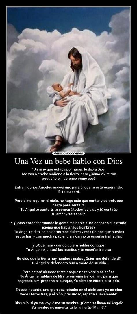 Imagenes De Dios Con Un Bebe   una vez un bebe hablo con dios desmotivaciones
