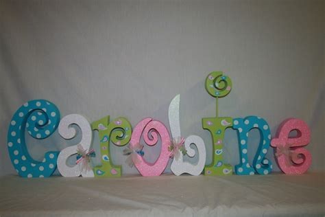 Nursery Wooden Letters Wall Decor Nursery Wall Decor Wood Letters 8 Letter Set Room