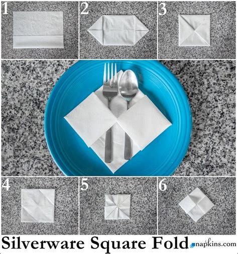 How To Fold A Paper Napkin With Silverware - square napkin fold how to fold a napkin