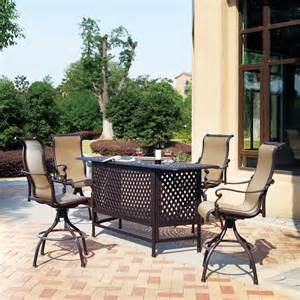 outdoor patio bar set darlee monterey 5 bar set atg stores