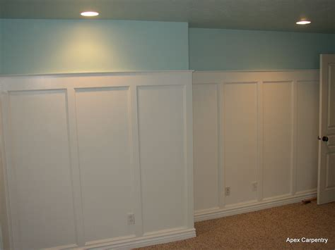 Dining Room Paint Ideas With Chair Rail by Craftsman Style Wainscoting Apex Carpentry