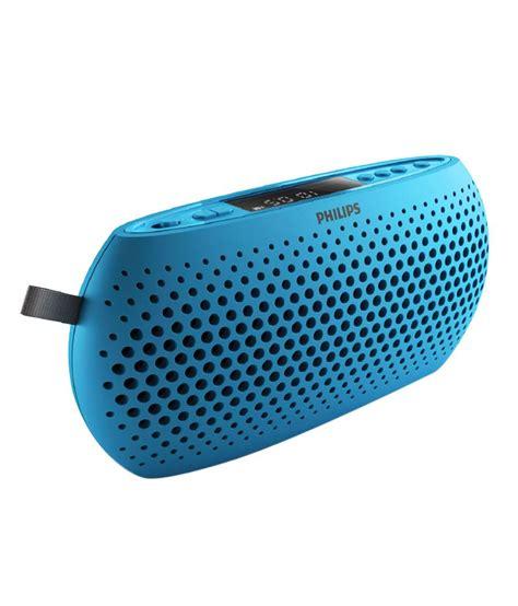Portabel Speaker 3 In 1 buy philips sbm130 portable speaker blue at best price in india snapdeal