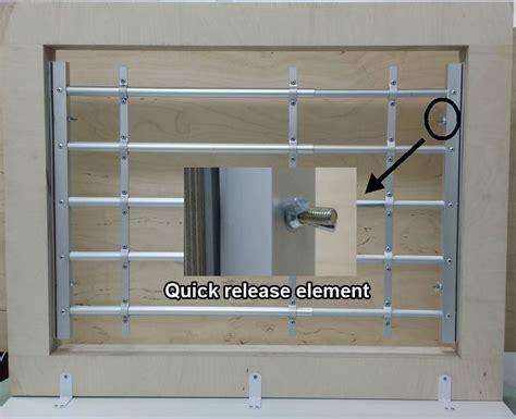 qiuck release aluminum window guard 4 bars saver - Interior Window Bars Release