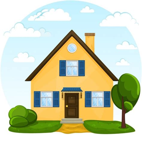 images of a house a yellow house vector free