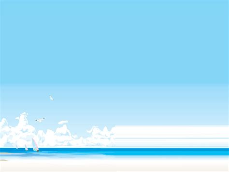 summer landscape holidays ppt backgrounds summer