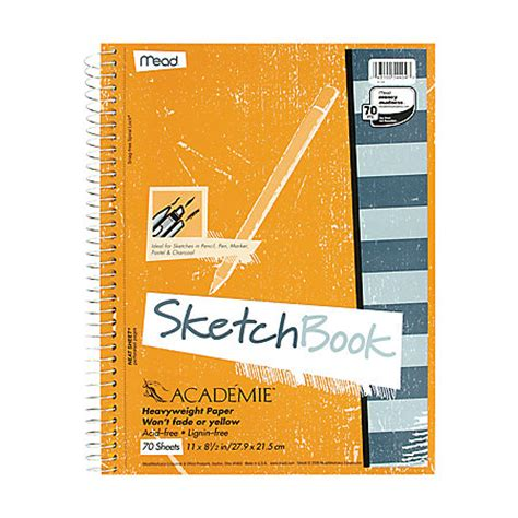 office depot sketchbook mead academie sketch diary 70 pages 8 12 x 11 by office