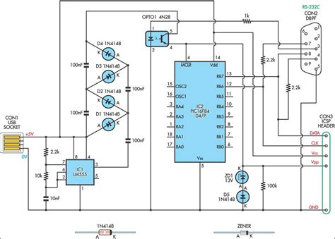 jdm programmer circuit diagram usb powered pic programmer circuit diagram