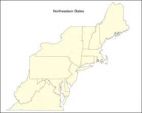 Northeast United States Map by Search Results For Us Northeast Region Blank Map