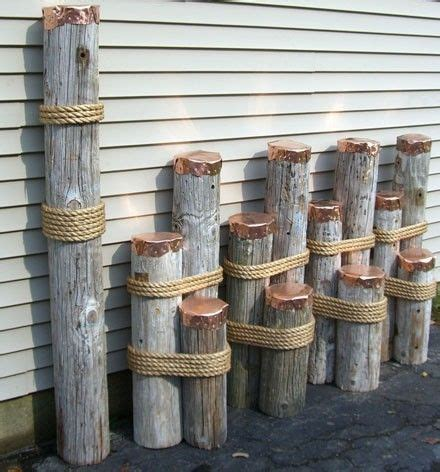 nautical decor mooring dolphins or dock pilings for