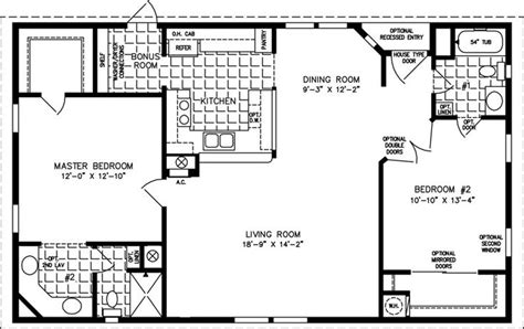Jacobsen Homes Floor Plans | 2 br floor plan barn living pinterest