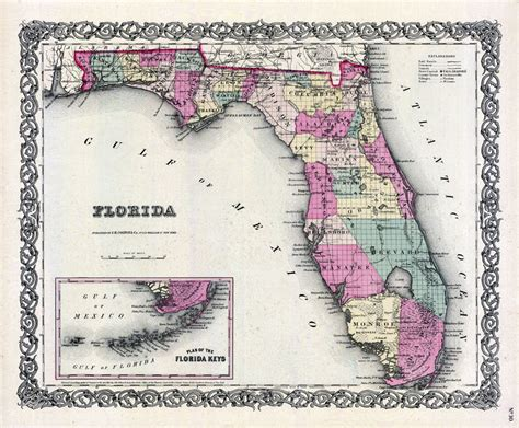 Section Township Range Map by Florida 1855