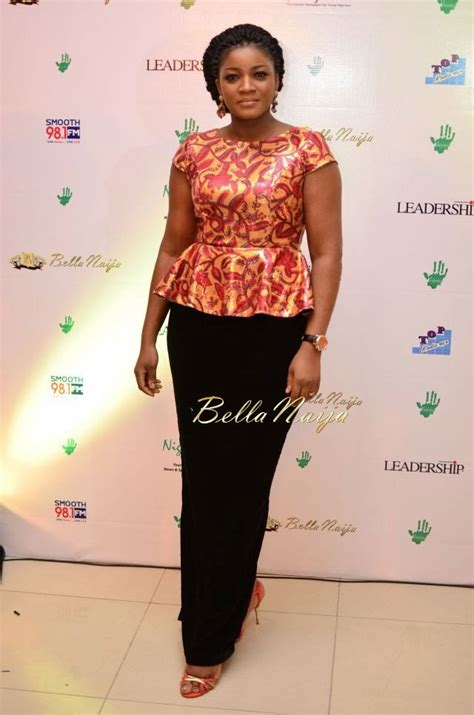 bella naija omotola jalade ekeinde spotted at the eie charity auction