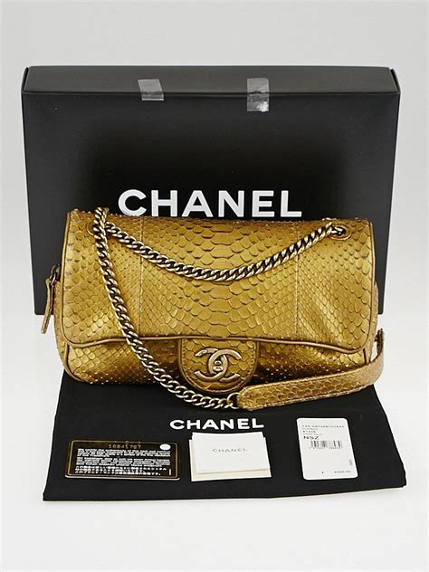 Shopping Gold Python Blackberry Purse by Chanel Gold Python Medium Shiva Flap Bag Yoogi S Closet