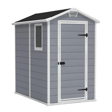keter sheds keter manor 4 ft x 6 ft outdoor storage shed 212917 the home depot