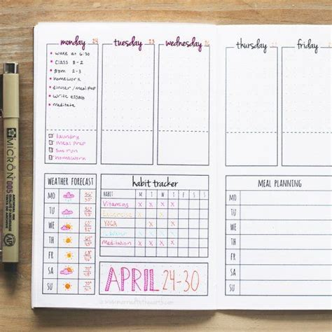 make your own printable daily planner download this printable weekly bullet journal spread and