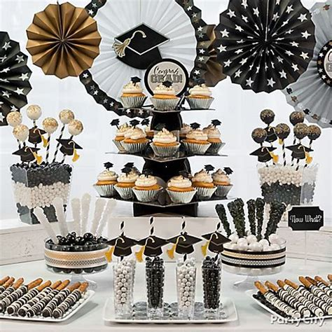 party themes classy classy graduation party treats ideas in black gold and