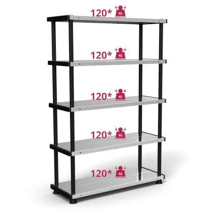 scaffali plastica terry mp shelf 120 rc scaffale modulabile metallo plastica