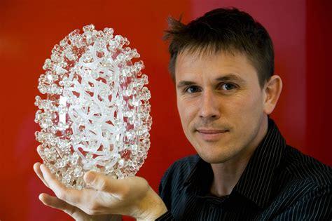 Glass Art Chandelier C0058058 Swine Flu Virus Sculpture Glass Microbiology