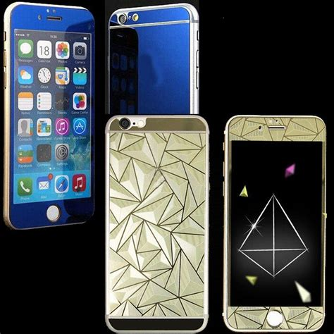 pcs front   diamond mirror effect color tempered
