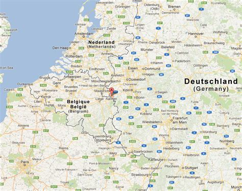 cities in germany aachen map and aachen satellite image