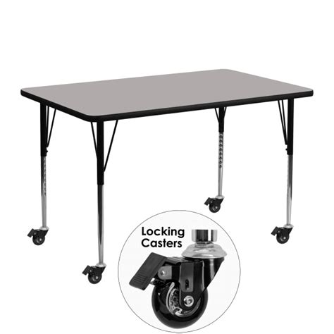 wheels activity table tables mobile activity tables with wheels table
