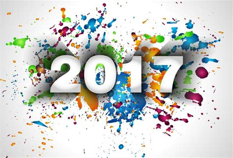 new year s colors 2017 new year with paint background vector vector