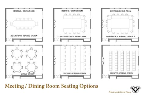 meeting room layout options weddings and the retreat house