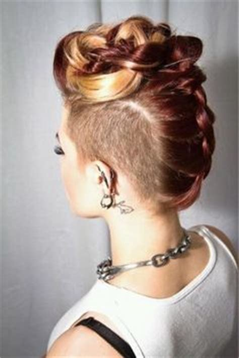 hairstyles with half of head in braids 1000 images about hair styles for half shaved head on