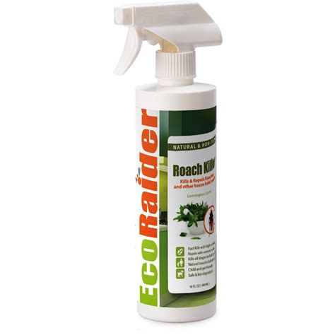 ecoraider bed bug spray roach killer and repellent 16 oz ecoraider natural bed