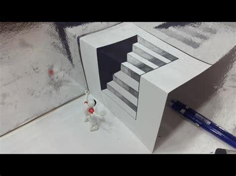 bagaimana cara membuat gambar 3d menggunakan pensil belajar cara menggambar 3d di kertas untuk pemula yang